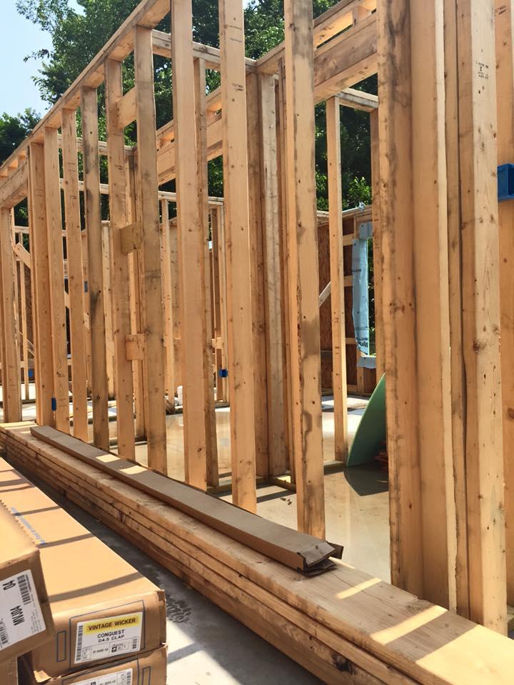 Framework for a new home