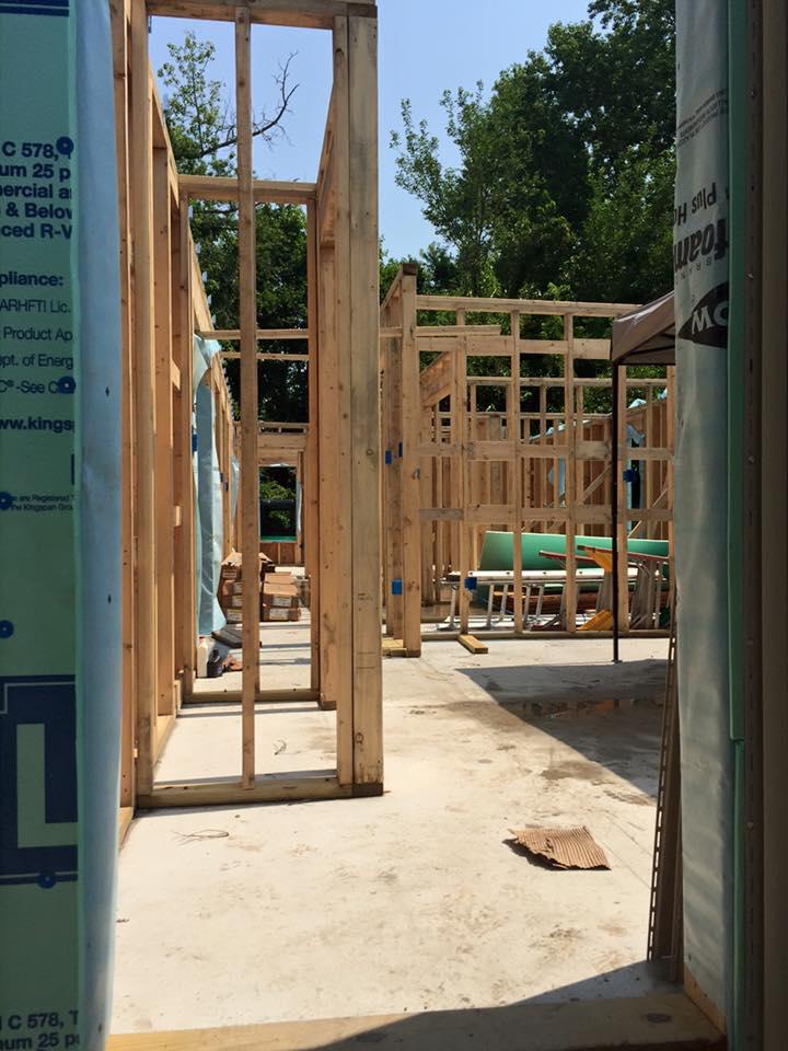Wooden framework for new house