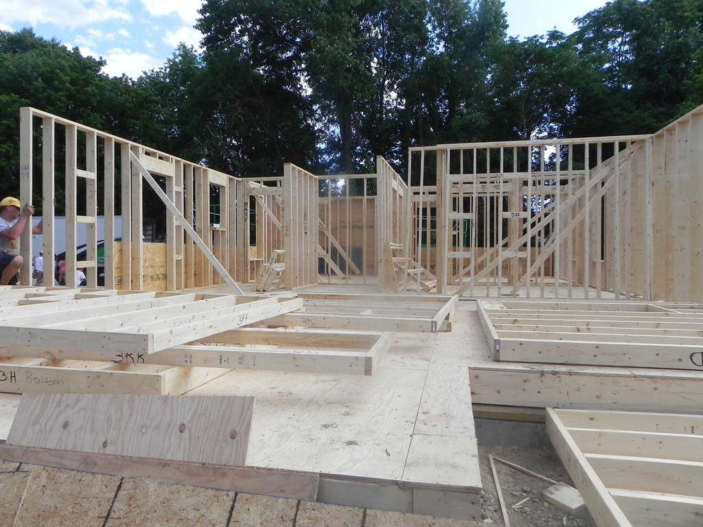 Frame construction of home